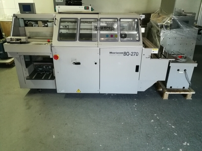 A single pocket, used, fully automatic binder Horizon BQ 270. Very good condition.
